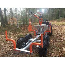 PRO-TERRA TL1200 ATV Timmervagn med kran och Elvinsch Extrautrustad