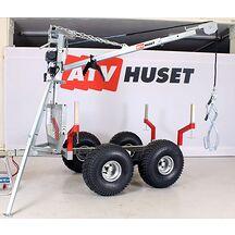 ATV Timmervagn 1500 med kran och Elvinsch Extrautrustad