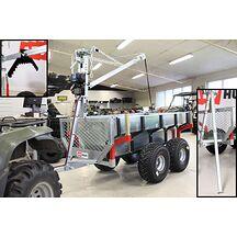 ATV Multivagn 1500 med Kran och Elvinsch Extrautrustad