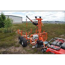 PRO-TERRA TL1600 ATV Timmervagn med kran och Elvinsch Extrautrustad