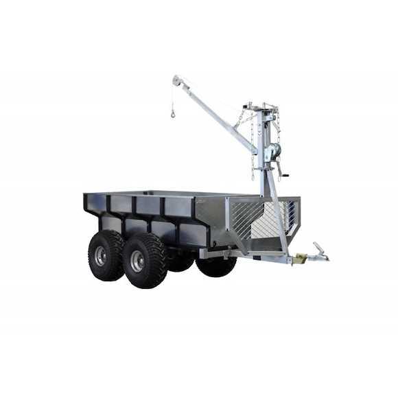 ATV-PRO ATV Multivagn 1500 med Kran och Handvinsch