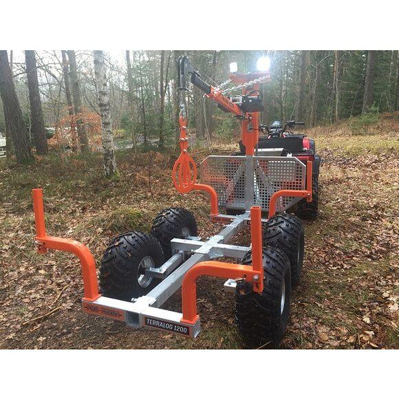 PRO TERRA PRO-TERRA TL1200 ATV Timmervagn med kran och Elvinsch Extrautrustad