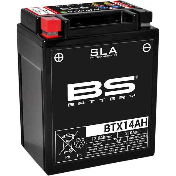 BS Batterier BS ATV Batteri BTX14AH  SLA 12V (YTX/YB14)