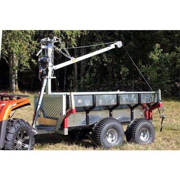 ATV-PRO ATV Multivagn 1500 med Kran och Elvinsch