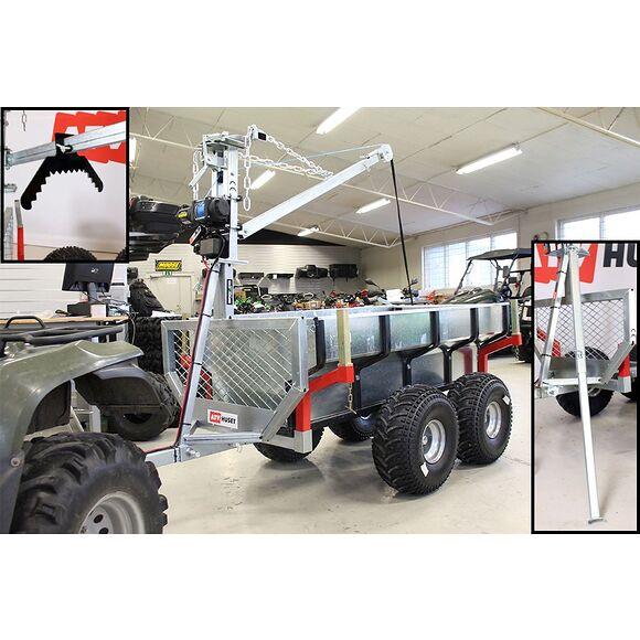 ATV-PRO ATV Multivagn 1500 med Kran och Elvinsch Extrautrustad