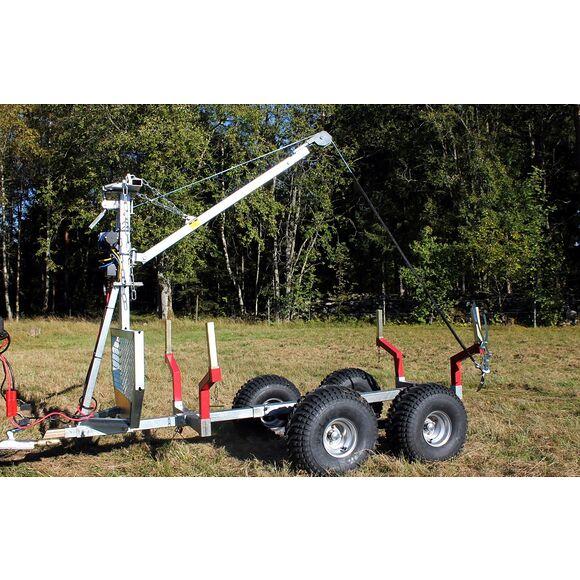 BRONCO ATV Timmervagn 1500 med kran och Elvinsch